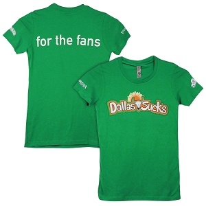 Men's Green Dallas Sucks Tee