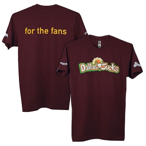 Men's Maroon Dallas Sucks Tee